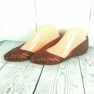 Frye Clementine Side Dip Skimmer Leather Flats 7M